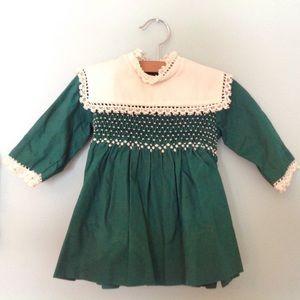 Vintage emerald green Polly Flinders dress 2T